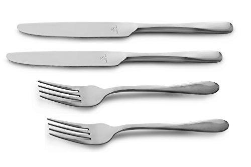 Windsor Carded 2TFKWSR/C Ensemble de 2 Couteaux et fourchettes de Table, Acier Inoxydable, Miroir, 23 x 5 x 1 cm