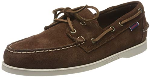 Sebago Docksides Portland Suede, Men's 7000G90 Boat Shoes (Dk Brown 901) 8.5 UK