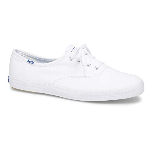 Keds Women's Champion Original Canvas Lace-Up Sneaker, White, 9 S US