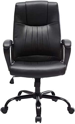 Sillones GSN Ejecutivo Silla reclinable Boss, Silla de la computadora Negro de Lujo de Cuero de imitación, de la Cintura Soporte ergonómico del Respaldo /, Alta Capacidad de Carga (Opcional)