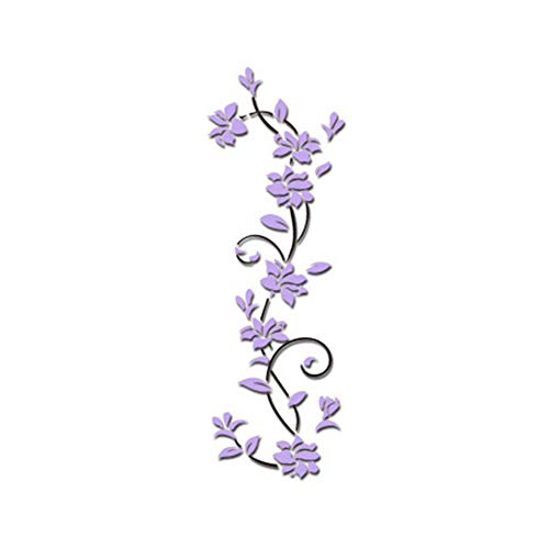 Removable Wall Sticker Clearance Sale, Libermall DIY 3D Acrylic Crystal Wall Stickers Living Room Bedroom TV Background Home, Best for Art Home Decors Living Room Unique Home Decor (Purple)