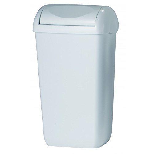 All Care 5656 PlastiQline Swing Poubelle Plastique Blanc 43 l