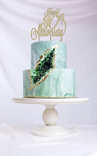 Gelukkige 30-jarig jubileum, verjaardagstaart Topper, Happy Anniversary Cake, Gold Cake Topper, Glitter Cake Topper, DIY Cake Topper, Rustieke Cake