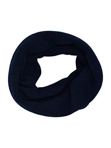 DALLE PIANE CASHMERE - Sciarpa anello 100% cashmere rigenerato - Made in Italy - Donna, Colore: Blu, Taglia unica