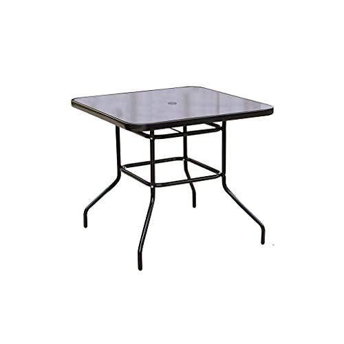 OPIU 31.4'Tavolo da Pranzo del Patio Tavolo da Giardino per mobili da Giardino Rotondo con Telaio in Vetro temperato per Cortile per la Conversazione con Conversazione per Feste (Color : B)