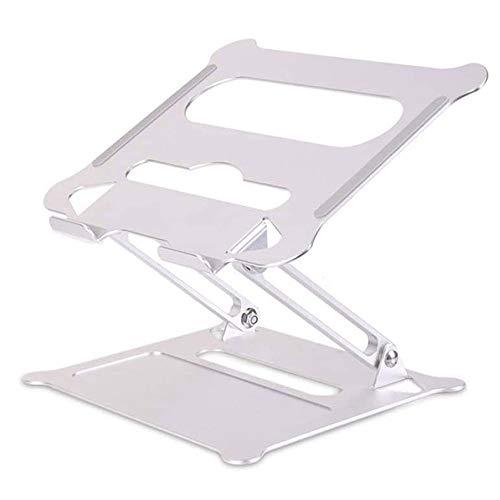 Laptop Stand, Desk Riser: Aluminum Adjustable Laptop Riser With Heat Vent Folding Laptop Cooling Stands Portable Laptop Computer Stands Compatible For MacBook Pro/Air 11-17.3 Inch