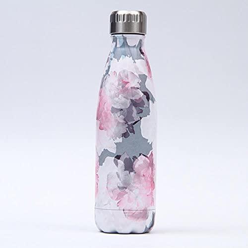 Frasco de vacío con aislamiento de doble pared de 500 ml, termo, botella de agua de acero inoxidable, botella de regalo de Navidad, ESPAÑA, 196
