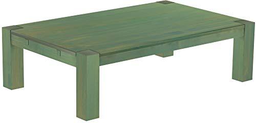 Brasilmöbel, Rio Kanto, salontafel, 160 x 100 cm, bamboe, mintgroen, woonkamertafel, houten tafel, massief houten salontafel, bijzettafel, echt hout, afmetingen en kleur naar keuze