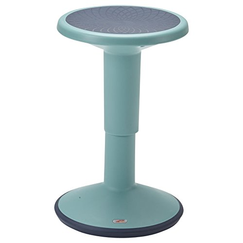 ECR4Kids SitWell Height-Adjustable Wobble Stool - Active Flexible Seating Chair for Kids and Adults - School and Office, Seafoam
