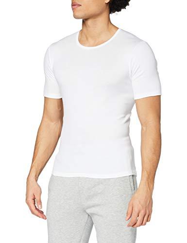 CALIDA - Canottiera Collo Tondo, Uomo, Bianco (Weiß (Weiss 001)), L