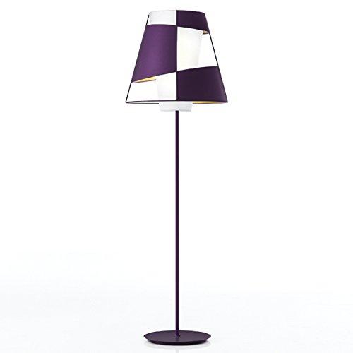 Lámpara de pie 1-techo Crinolina Tamaño: 175 cm H x 55 cm de diámetro, Colour: blanco, bombilla: 2 x fluorescente luz blanca cálida E27 30 W con interruptor de pie