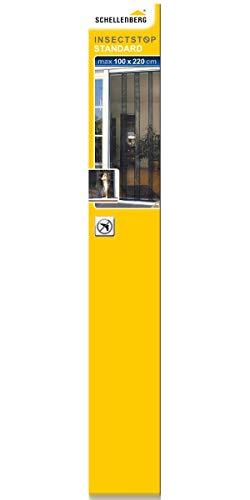 Schellenberg 50629 Insektenschutzvorhang Standard für Türen, 100 x 220 cm, Fliegengitter Vorhang
