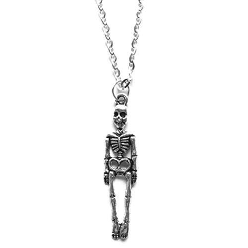 ABOOFAN Collar Esqueleto Fresco Vintage Personalizado Charm Collar Halloween Party Favors Decor (Plata) Halloween- Dekorationen
