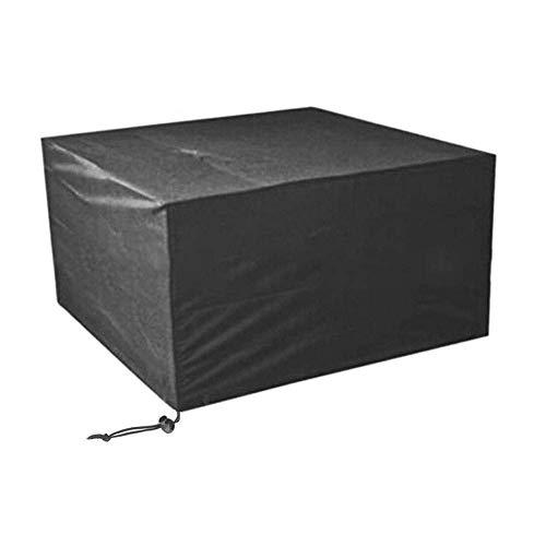 LBBZJM Garden Furniture Cover tarps Garden Rattan Furniture Cover Oxford Outdoor Garden Dustproof Waterproof Cover Garden Table Furniture Cover (Color : Black, Size : 125x125x75cm)
