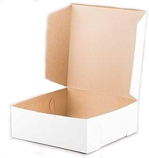 "Square White 1-Piece Cake Box (100, 5"" High, 9"" x 9"")"