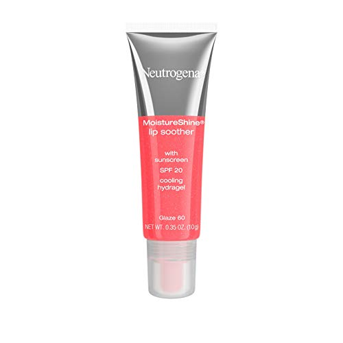 Neutrogena MoistureShine Lip Soother, SPF 20, Glaze 60, 0.35 Ounce