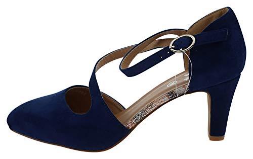 initiale paris , Sandales pour Femme Bleu Marine - Bleu - Marine, 38 EU