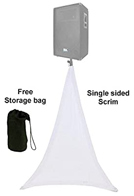white spandex speaker tripod scrim light stand cover 1 side covered