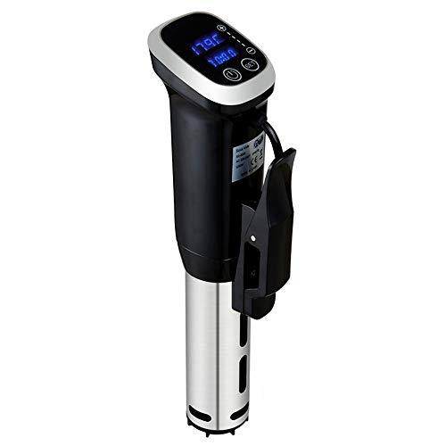 Sous Videokocher, 1800W Edelstahl-Präzisionstauchherd Mit LCD-Display, IPX7 Wasserdicht, Schnelle Aufheizung, Timer, Temperatureinstellung,Us
