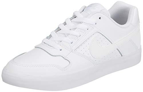 Nike SB Delta Force Vulc, Zapatillas de Skateboarding para Hombre, Blanco (White/White/White 112), 41 EU