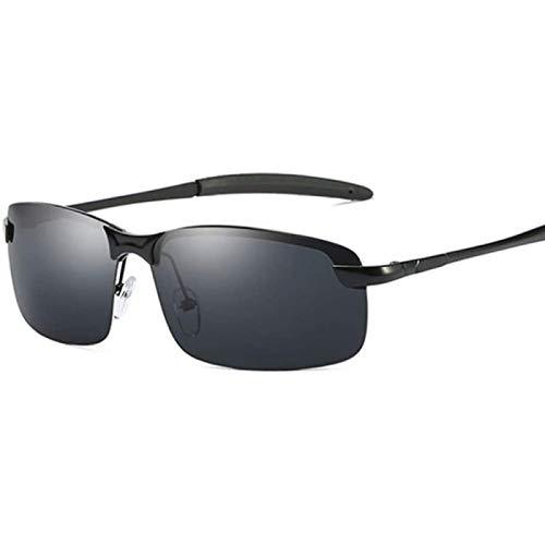 ZHANG Gafas De Sol para Mujer Gafas De Sol Cuadradas Polarizadas para Hombre Gafas De Sol De Conducción Retro Vintage para Hombre Gafas De Sol para Hombre,Black