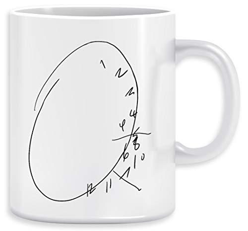 Hannibal Uhr Kaffeebecher Becher Tassen Ceramic Mug Cup