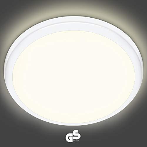 LED Deckenleuchte 18W, Oraymin 1800LM LED Deckenleuchten Ø25cm, IP54 LED Feuchtraumleuchte für Badezimmer Büro Korridor Küche Wohnzimmer Schlafzimmer Flur Usw. Neutralweiß 4000K LED Deckenlampe