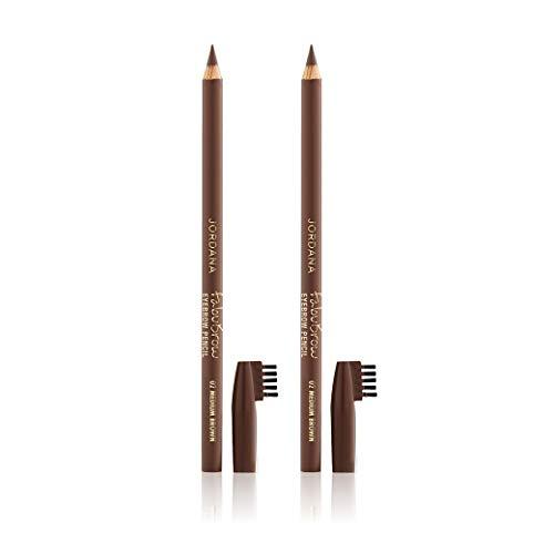 Jordana Fabubrow Eyebrow Pencil (Medium Brown, 2 Pack)