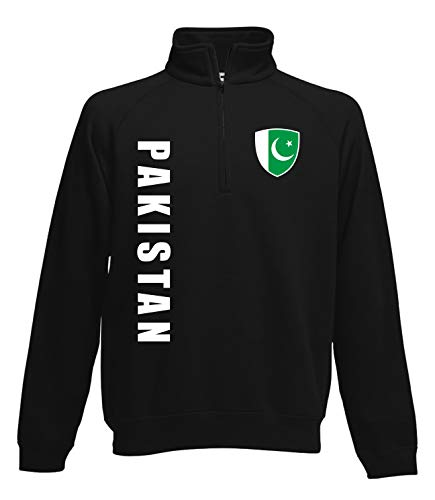 Aprom Pakistan Zip Sweater Pullover Trikot Look Neck Fussball Sport SPA (S)