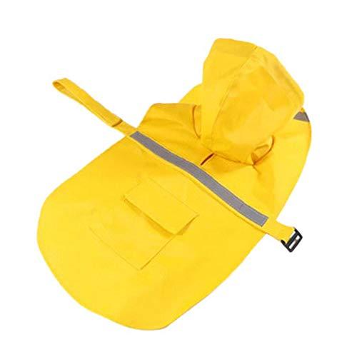 Hund Regenmantel, Haustier Regenmantel, Hundewelpen wasserdichter Mantel Hund Gelb Regenkleidung