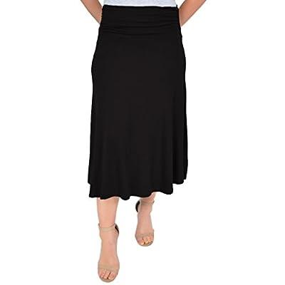 Stretch is Comfort Women's Mandy Midi Flowy Skirt