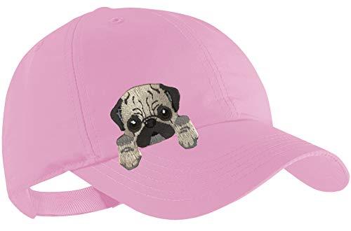 Blackshirt Company Mops Schildmütze Kinder Base Cap Hunde Sommerkappe Farbe Rosa