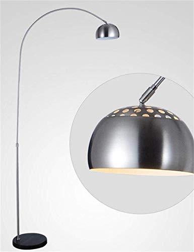 LIPENLI De pie luminarias de Acero Inoxidable Moderno y Minimalista Moda Luces de Suelo for Estar Sala de Estudio Dormitorio de Noche Incluye Bombilla