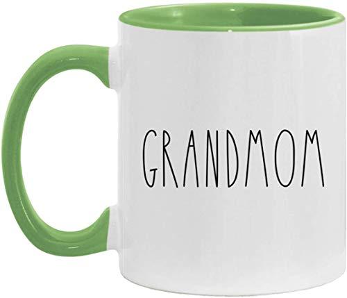 Grandmom Akzentbecher Grandmom Kaffeebecher Muttertag/Vatertag Familienakzentbecher zum Geburtstag Die beste Großmutter aller Zeiten - Grün - 11 Unzen