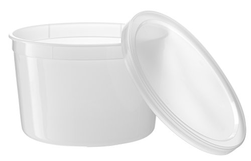 [10 Count 64 Oz Combo] Basix Round Clear Food Storage Deli Container With Lids, Perfect For Meal Prep Soup, Ice Cream, Freezer, Dishwasher And Microwave Safe