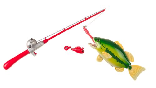 Small World Toys Sand & Water - Catch of The Day - Magnetic Fishing Game For Pools & Tubs