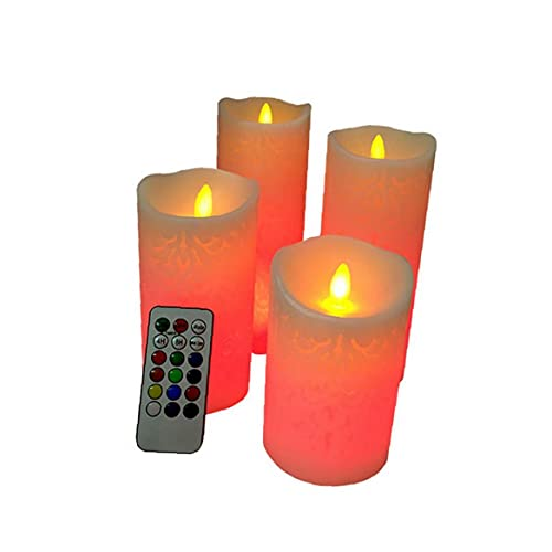 LED Flameless Candles Real Wax Flameless Color Changing Candles with 18-Key Remote Control Timer Electronic LED Artificial Candle Lights Battery Operated Candles Festive Wedding Decoration