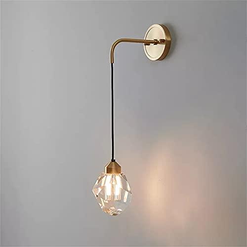 FMGR Aplique Pared Interior LED Lámpara De Pared Moderna para Salon Dormitorio Sala Pasillo Escalera,Lámpara De Pared De Cristal De Cobre