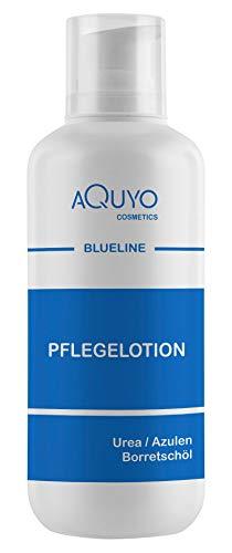 Blueline Creme Lotion zur Hautpilz, Fußpilz, Ekzem oder Neurodermitis Behandlung (500ml Spender) | Körperlotion für trockene und juckende Haut | Bodylotion bei Schuppenflechte, Hautrötungen oder Dermatitis