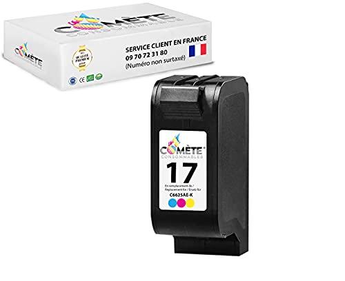 COMETE HP17 - Cartucho de tinta compatible con HP 17 Color C6625AE para impresoras HP DESKJET 816C 817C 825C 825CVR 840C 840 Series 841C 842C 843C 845C 845CVR