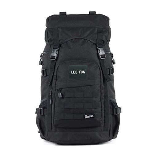 ROGISI リュックサック メンズ ハイキングバックパック 登山用リュック 50L 大容量ザック 防水 バックパック 登山用バッグ 通気性 多機能 旅行バッグ キャンプ バックパック 多用途 アウトドアリュック レインカバー付き 4Color (ブラック)