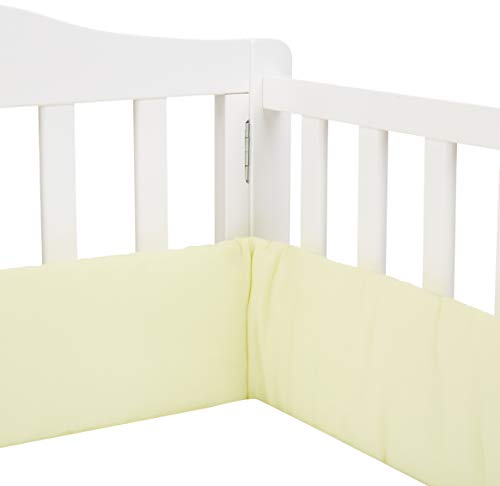 Lowest Prices! Babykidsbargains Safety Cradle Bumper, Yellow Poly/Cotton, 18 x 36