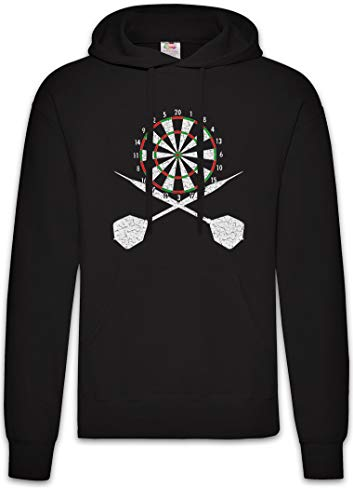 Urban Backwoods Darts Board and Crossed Darts Hoodie Kapuzenpullover Sweatshirt Schwarz Größe XL