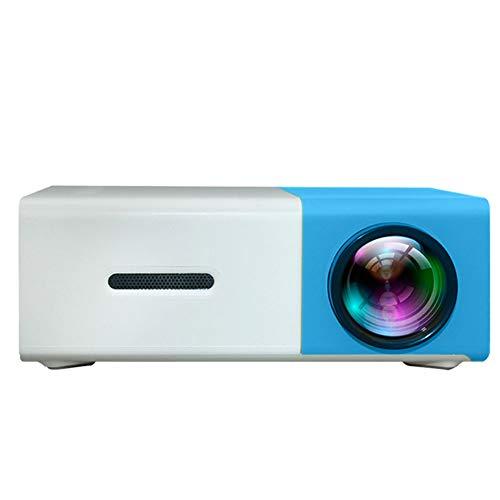 Mini proyector Llevado Mini proyector del Teatro casero 25W YG300 Portable llevó el proyector HD de 1080p Soporte VGA HDMI USB AV Reproductor multimed