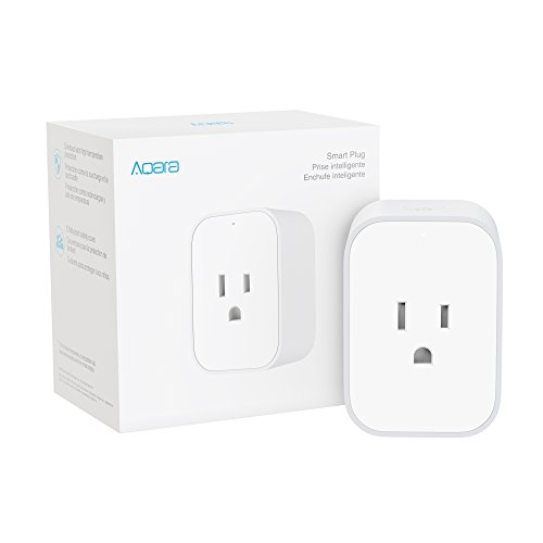 Aqara Smart Plug, with Energy Monitoring, Overload Protection, Scheduling and Voice Control capabilities, Works with Alexa, Google Assistant, and Apple HomeKit Compatible, Requires Aqara Hub