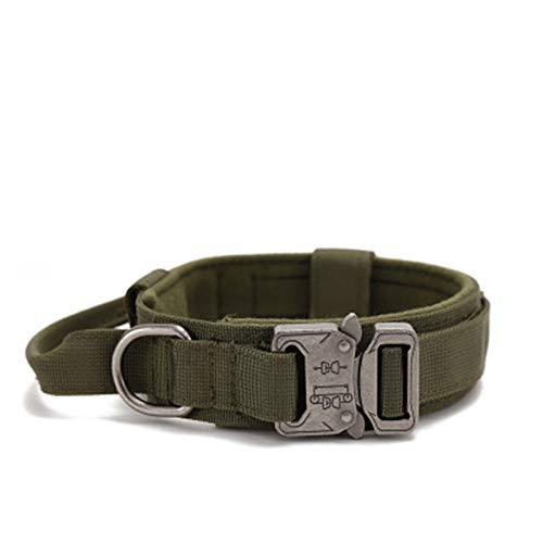 BAIZAN Collar De Perro Cómodo Suave Ajustable Al Aire Libre, Collar De Mascotas Resistente Al Desgaste De Nylon para Caminar/Entrenamiento,2,XL