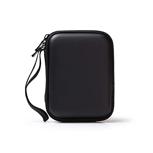 External Hard Drive Case Portable Hard Shell Carrying Case Black