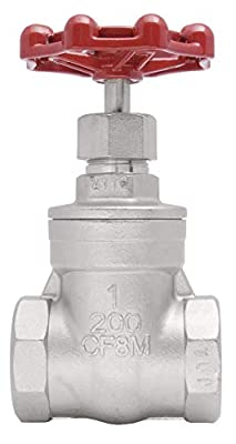 """1"""" Stainless Steel (316) Gate Valve - 200WOG, FxF NPT from Dura Choice"""