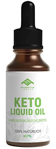 PHARMA HEALTH | Keto Liquid Oil | für Frauen und Männer | schnell, tropfen, Stoffwechsel, Ketogen | ohne Koffein | 10g