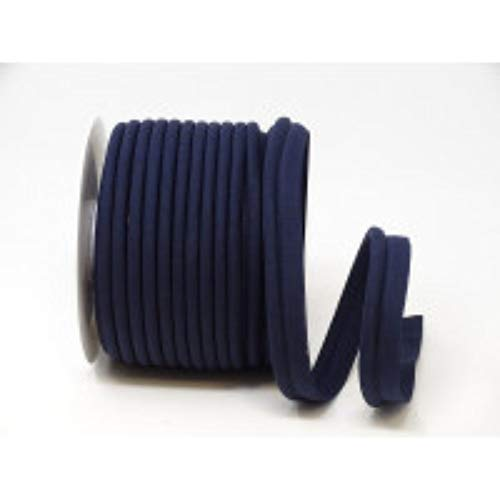 18mm Wide Poly Cotton Flanged Piping Cord, Insertion Cord - Sold by The Metre (Navy)
